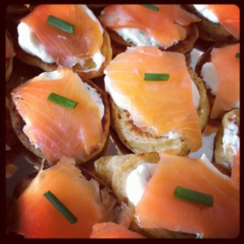 cuisine, apéritif, saumon, blinis