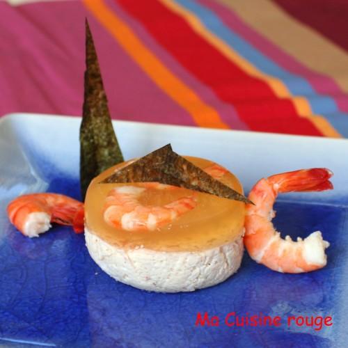 cuisine,gourmande,Ariaké,entrée,gelée,crevette,crabe