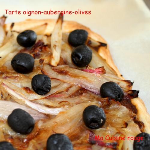 cuisine, entrée, caviar d'aubergine, oignon, olive, feuilletée