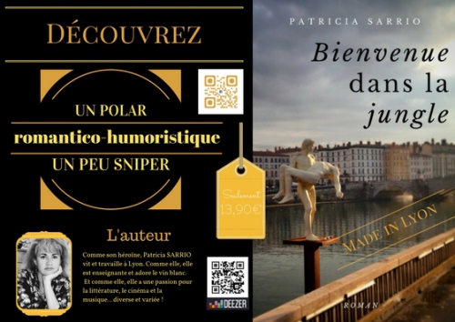 bienvenue dans la jungle,patricia sarrio,polar,humour,lyon,éducation,romance,kindle,ebook,autoédition